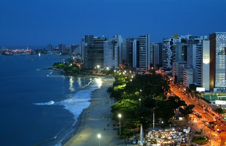 brazil, beach, coastal, coast, travel, skyline, city, buildings, sea, water, nightlife, landscape, ocean