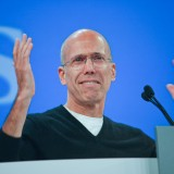 katzenberg, jeffrey, speech, glasses, address, pullover, dreamworks animation, hp discover 2012, general session, hewlett-packard, conference, t-shirt, hp, ceo, chief