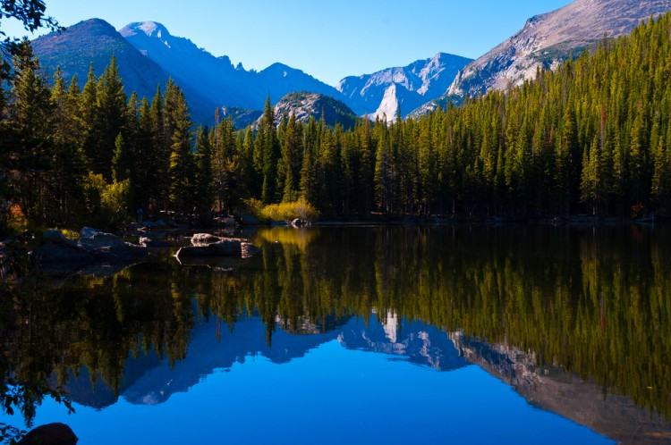 park, mountain, tree, national, rocks, rocky, deep, lake, dark, skies, pine, still, shoreline, cool, colors, blue, rich, water, reflections,11 Best Places to Visit in USA for 3 Days