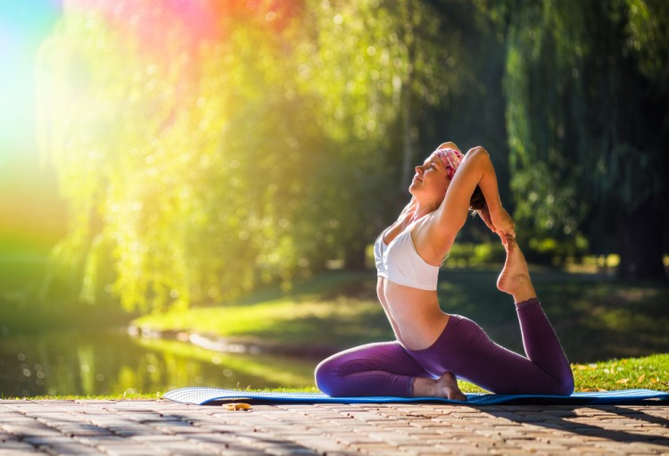 yoga, pose, smiling, woman, health, sport, zen, girl, slim, hands, natural, park, white, diet, peace, trees, happiness, adult, fit, morning, lake, fitness, serene, people, 10 Most Expensive Yoga Mats: Are they Worth It?