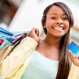 card, credit, african, shopping, american, black, shopper, debit, retail, savings, money, girl, sales, mall, spree, casual, smile, economics, content, latin, economy,