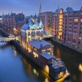 hamburg, street, brick, river, canal, lock, arch, town, no, vibrant, travel, illuminated, 2013, destinations, urban, architectural, history, built, styles, light, germany, old, people,