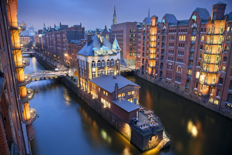 hamburg, street, brick, river, canal, lock, arch, town, no, vibrant, travel, illuminated, 2013, destinations, urban, architectural, history, built, styles, light, germany, old, people, 8 Easiest Developed Countries to Immigrate to