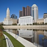 columbus, ohio, oh, river, business, scioto, tourism, midwest, downtown, outdoor, tree, america, travel, skyline, reflection, cosmopolitan, architecture, buildings, vacation,