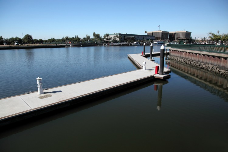 stockton, california, america, building, nobody, park, river, travel, small, dock, reflection, architecture, vanishing, exterior, american, cityscape, downtown, town, landing,