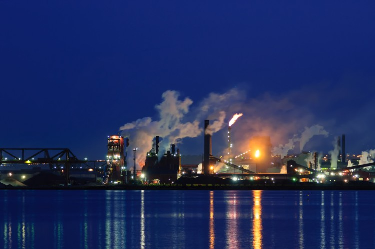 canada, oil, fuel, chemistry, cooling, tower, pollute, pipe, technical, steel, ontario, dioxin, diesel, power, pollution, night, stack, smokestack, refinery, steam, chemical, lake,