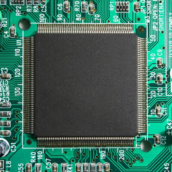 chip, micro, cpu, processor, black, logic, board, closeup, network, matrix, program, printed, green, white, future, central, compact, micron, data, nanometer, digital, cyber,