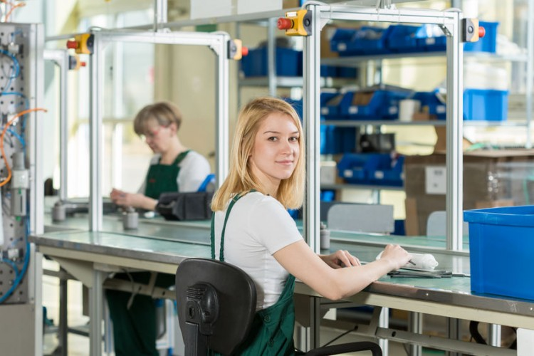 FLEX assembly, attractive, beauty, blonde, centre, delivery, distribution, employee, equipment, factory, female, hall, indoor, industrial, industry, job, labor, labourer, line, logistic, logistics, manufacture, manufacturing, mature, occupation, overalls, package, part, plant, produce, product, production, sedentary, uniform, woman, women, work, worker, working, workplace, young