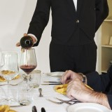 drinks, glass, pour, pouring, restaurant, sommelier, table, waiter, wine