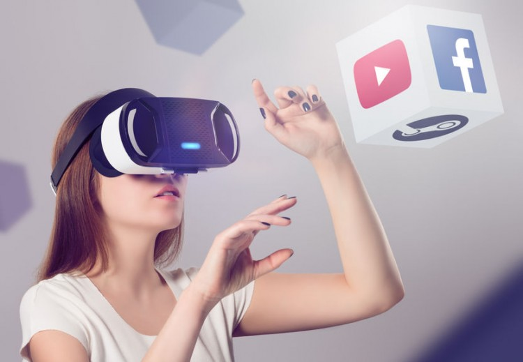 VR Headset, FB, GOOGL, activity, ar, augmented, computer, content, device, digital, dimensional, electronics, emotion, equipment, experience, facebook, female, gadget, gamer, gaming, glasses, goggles, hands, headset, helmet, illusion, immersion, interactive, leisure, logo, looking, network, platform, pointing, presence, reality, simulator, social, space, steam, technology, touch, video, virtual, virtuality, visual, vr, watching, wearable, woman, youtube