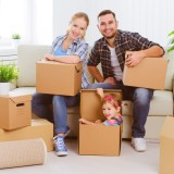 adult, apartment, box, boy, cardboard, casual, caucasian, child, children, container, couple, dad, daughter, family, father, female, flat, girl, happiness, happy, home, house, indoors, kid, lifestyle, love, male, man, mom, mortgage, mother, move, moving, new, packing, parent, people, person, portrait, property, real, room, smile, smiling, son, together, unpacking, woman, young