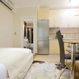 apartment, architecture, bed, bedroom, bright, chair, cupboard, design, desk, door, elegant, furniture, home, hotel, indoors, kitchen, luxury, modern, no people, nobody, room, small, table, tv