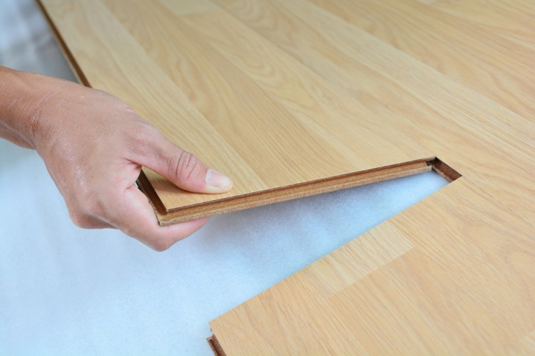 7 easiest cheapest laminate flooring to install yourself for Crystal springs hickory laminate